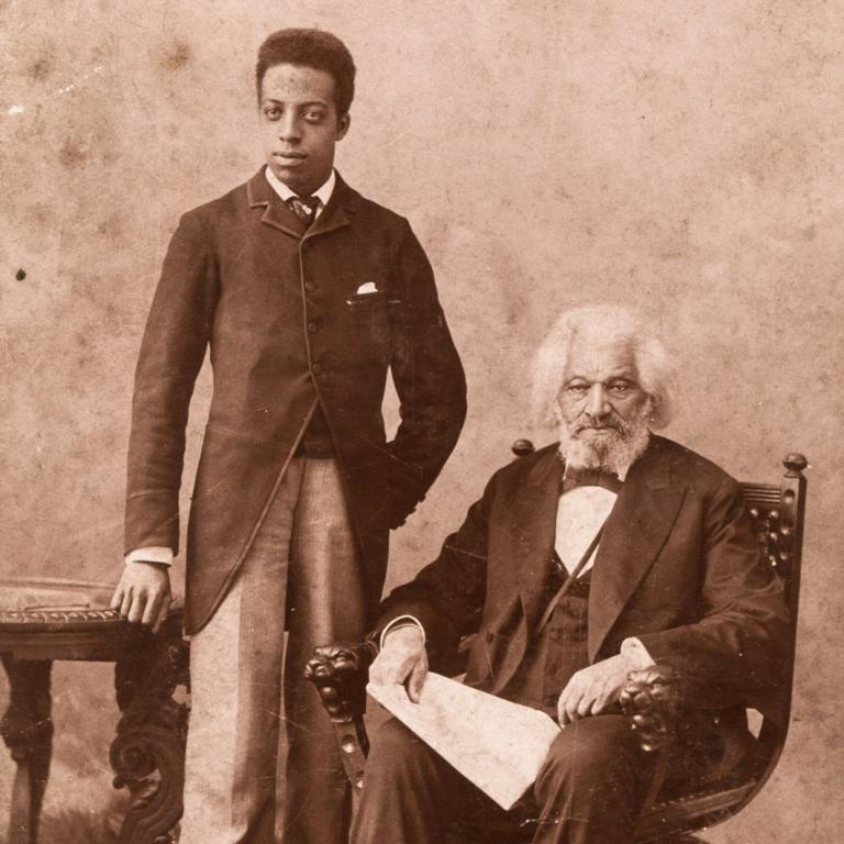 Portrait of Joseph Henry Douglass and Frederick Douglass