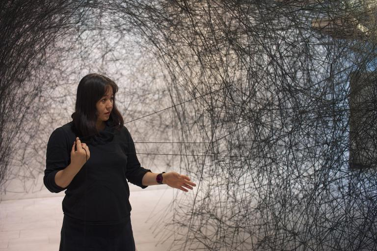 "Chiharu Shiota, ""A Long Day,"" K21, Kunstsammlung NRW, Düsseldorf, 2015. Courtesy of the artist and Blain