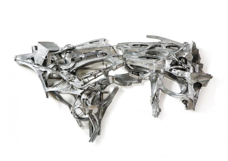 Metal sculpture by define art guest Lee Bul