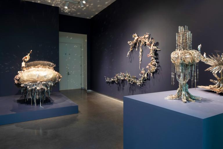 "Monica Cook ""Liquid Vessels"" exhibition installation at SCAD Museum of Art"