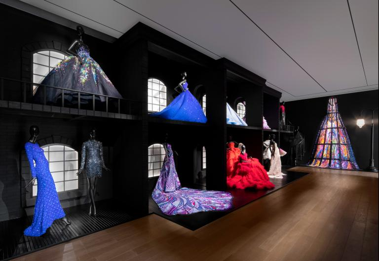 Installation view of Michael Cinco exhibition at SCAD Museum of Art