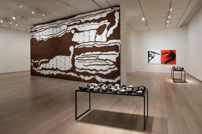 Installation views of Anna Maria Maiolino exhibition at SCAD Museum of Art