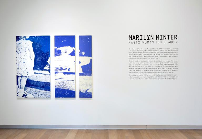 Installation views of Marilyn Minter exhibition at SCAD Museum of Art