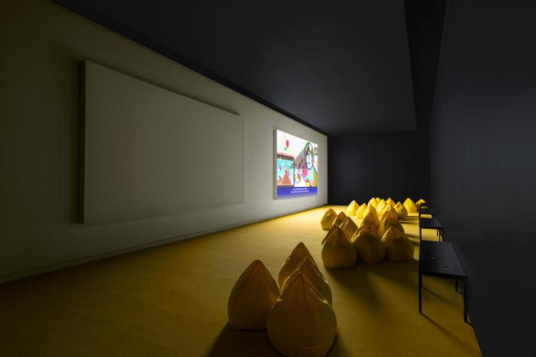 Installation views of Rodrigo Wong Ping exhibition at SCAD Museum of Art