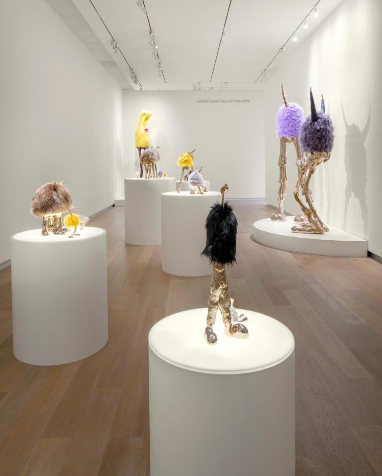 Installation views of Haas Brothers exhibit at SCAD Museum