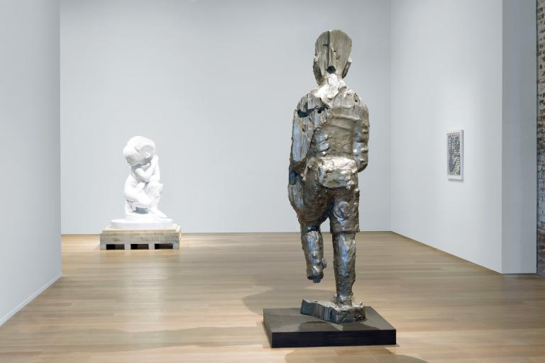 Installation views of Sanford Biggers exhibit at SCAD Museum
